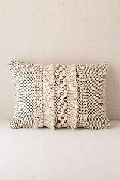 britta center shag bolster pillow