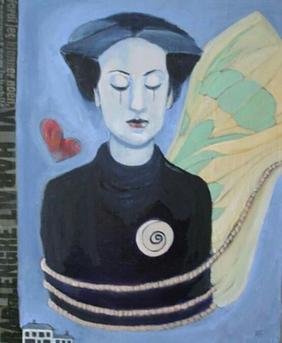Feelings - oil on canvas, 72.5H × 60W × 2.0 cm