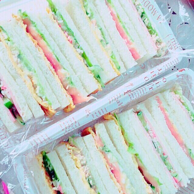 野菜たっぷりのサンドイッチ - 5件のもぐもぐ - サンドイッチ by 水谷優奈