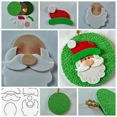 DIY Santa face