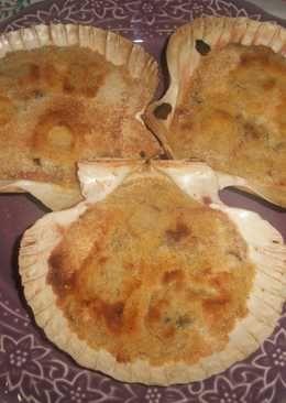 Conchas de mejillones al curry gratinadas