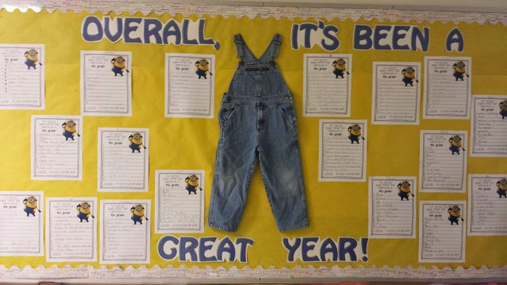 """Once Upon a Creative Classroom: End of the Year """"MINIONLY"""" Cute Bulletin Board......."""