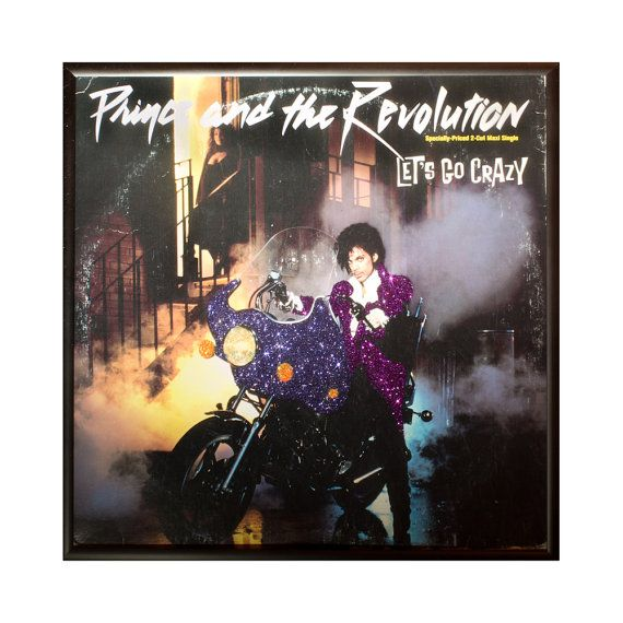 Glittered Prince Lets Go Crazy 12 Album by michel328 on Etsy, $75.00