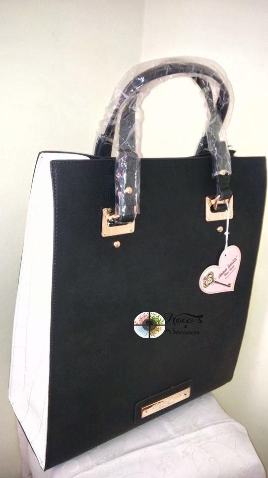 Anna Smith A3131 Τσάντα εξαιρετικής ποιότητας, μεγάλη, για κάθε ημέρα! Διαστάσεις : 34*41*13 Χρώματα: BLACK & WHITE / BLACK