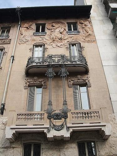Casa Maffei, 1909: Turin art nouveau Liberty style by Antonio Vandone (1863-1937) Iron works: Alessandro Mazzucotelli (1865-1938)