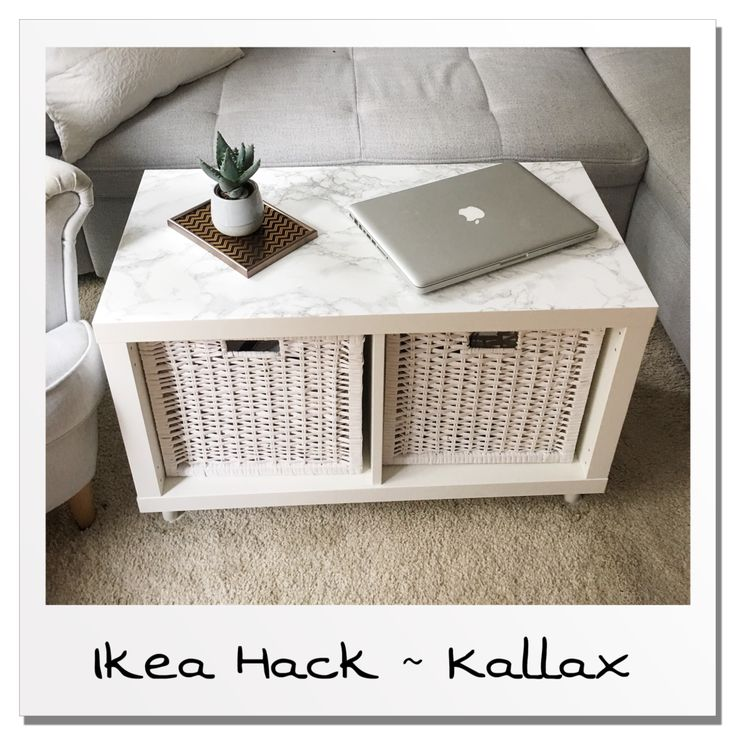 How do you build a stylish living room table from a simple Kallax shelf, you will learn in this flash Ikea hack on my blog!