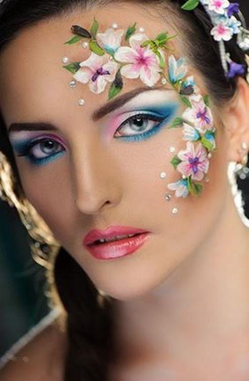 Floral eye design.