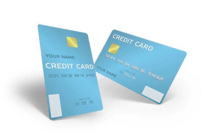 3d Portrait Credit Card Front And Back Mockup Generator 3d