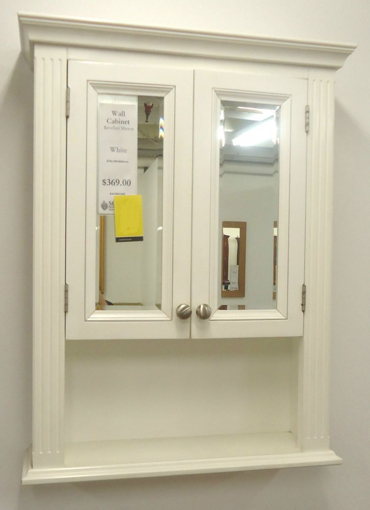 Schots Vintage Timber Bevelled 2 Door Shaving Mirror