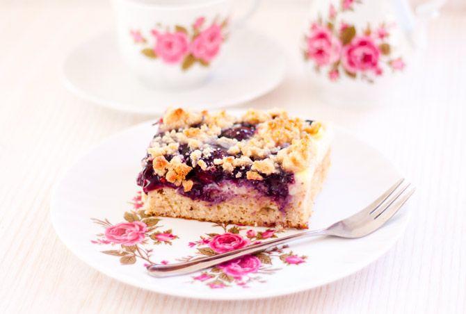 Low Carb Blaubeer-Kirsch-Pudding Kuchen – Low Carb Köstlichkeiten