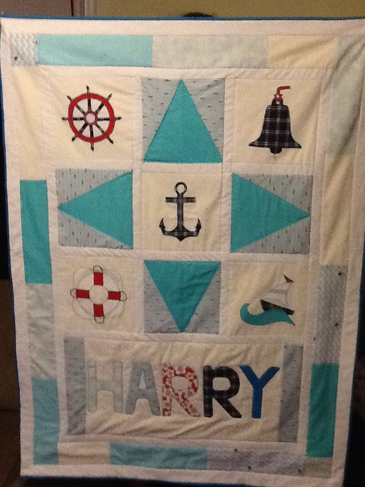 My latest quilt, nautical theme...love this one.