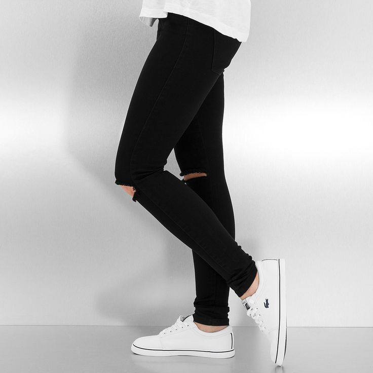 #jean #slim #only #troue #noir #pantalon #femme #mode #style