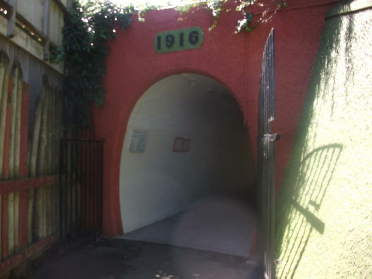 The entrance to the tunnel of the Durie Hill Elevator.