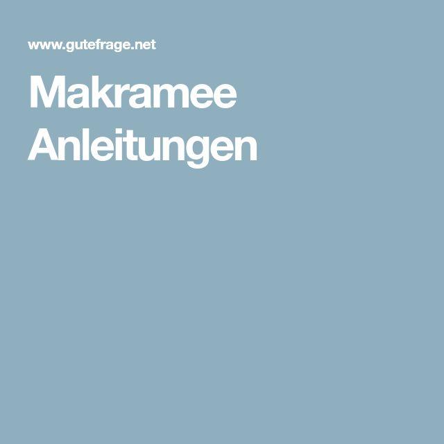 Makramee Anleitungen