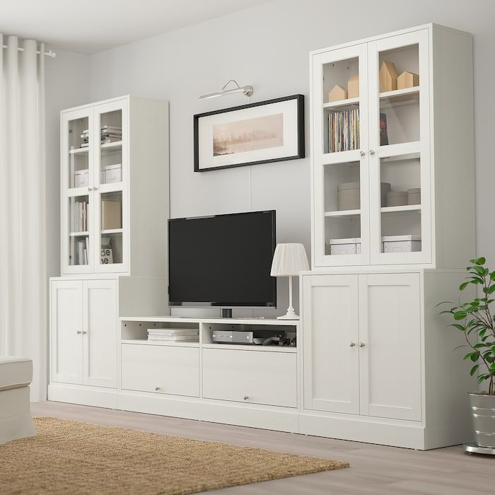 Best Ikea Havsta White Tv Storage Combination Glass Doors 640 x 480