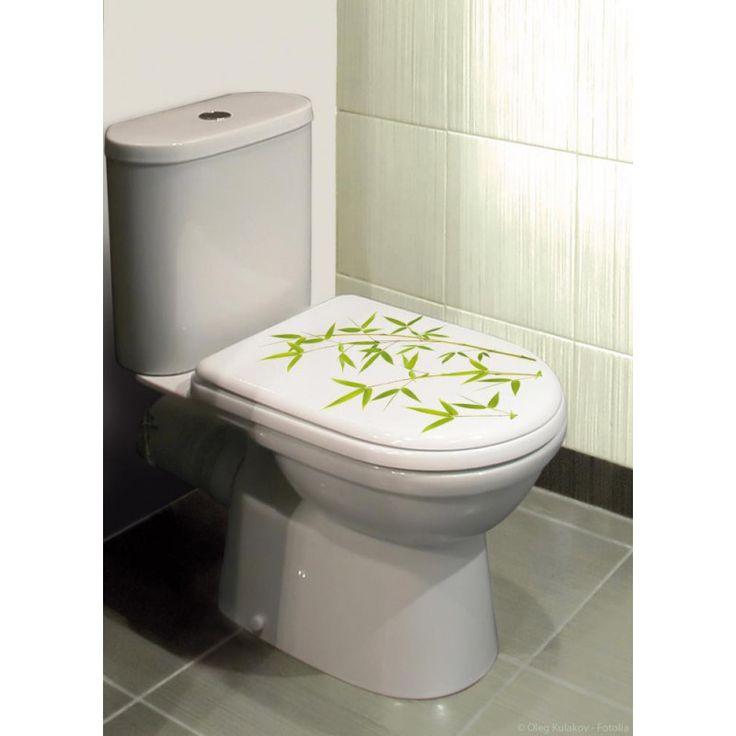sticker pour abattant de wc bambou