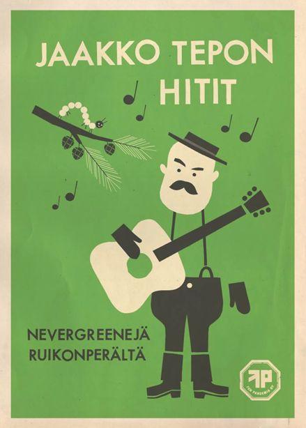 Cover art for Jaakko Teppo. Design by Sami Vähä-Aho 2013.