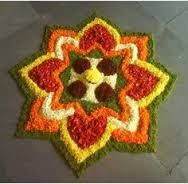 Image result for poo kolam with flowers