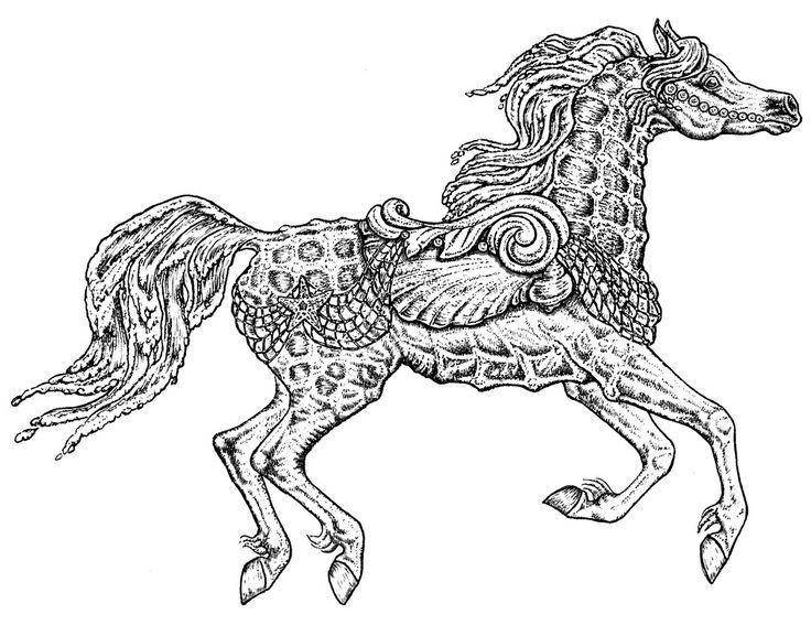 80465c0368a38337e83c95d639a7ab4d 1024x790 Coloring SheetsAdult ColoringColoring BooksCarousel HorsesZentangleBig