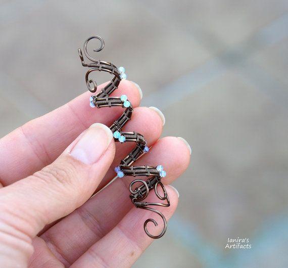 Dreadlock Manschette/Dread Perlen/Loc Zubehör/Dreadlocks Dreadlocks-Manschette/Draht gewickelt Manschette/Edelstein/Dread Spirale Manschette/Hair-Perlen/Loc-Manschette