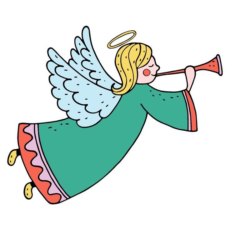 Ангел с трубой картинка для детей
