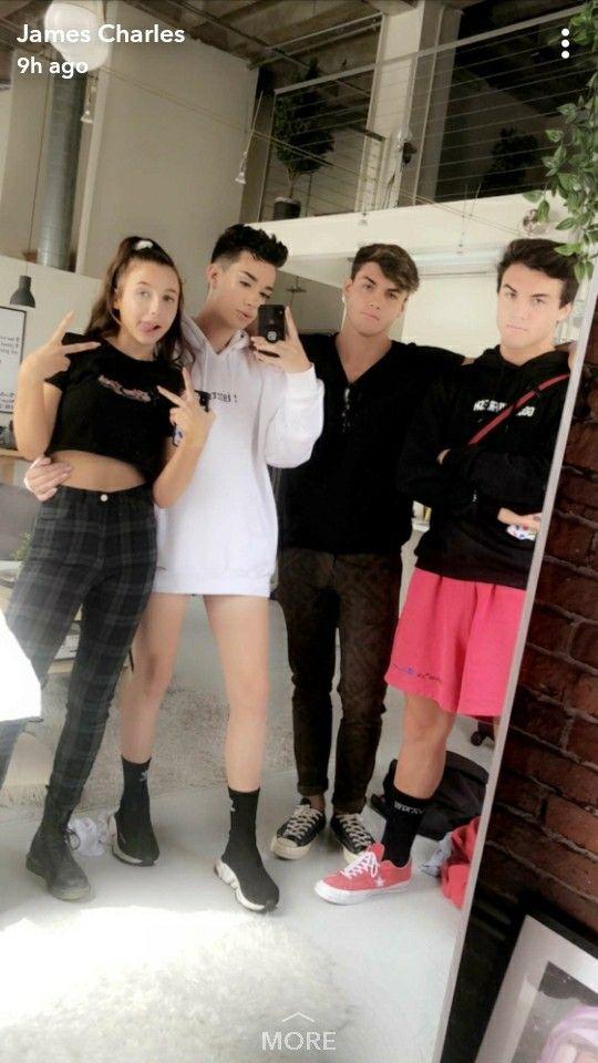 Snapchat James Charles Sister Squad💕💕 In 2019 Dollan