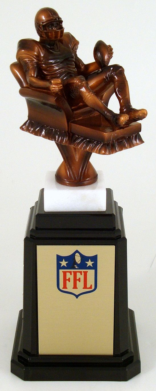 Fantasy Football Recliner On a Tower Base Perpetual Trophy