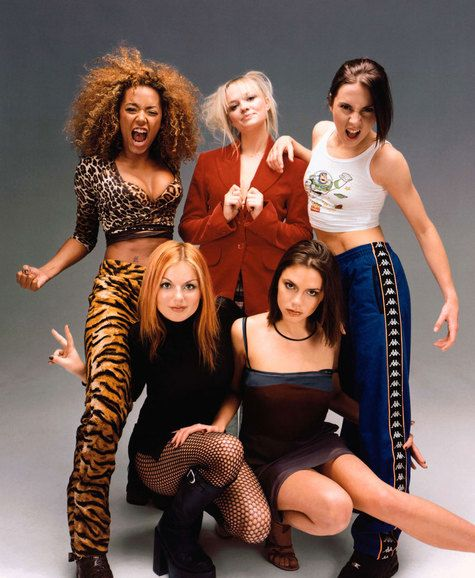 Spice Girls!  The Spice Girls made the 90s more enjoyable.