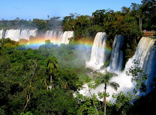 """Iguazu Falls, at the 3-corners of Brazil, Argentina and Paraguay, literally means """"Big Water"""". It is one of the most glorious displays of God on earth.: Catarata Del, Buckets Lists, Glorious Display, Iguazu Fall, Wishesbucket Lists, Places I D, Big Water, Amazing Fall, De Iguazu"""