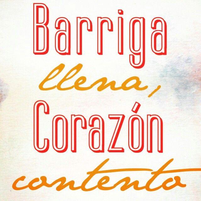 Barriga llena corazon contento , frases en español de san pietro en puerto vallarta .. come pizza y alimenta a tu corazon te esperamos