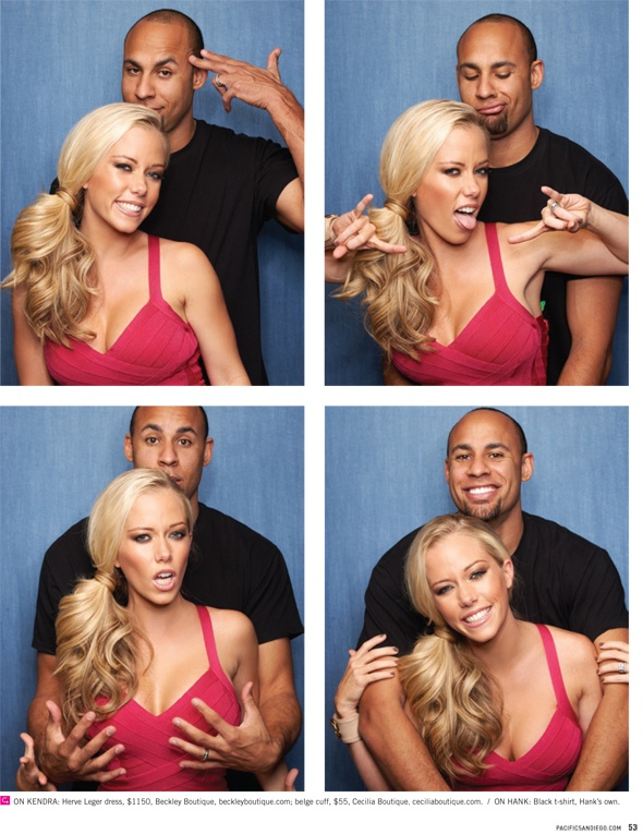 so cute.    Kendra and Hank Baskett in @Pacific Magazine!