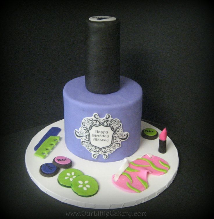 Nail Polish Cake: 56 Best Cake---Barber, Hairdresser And Nail Tech Images On