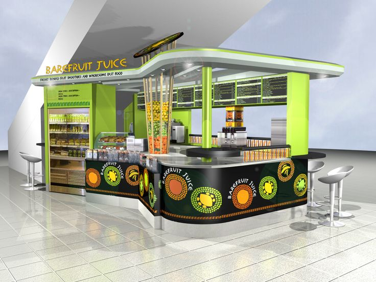 Barefruit juice kiosk love office research for Bar food 46 levallois
