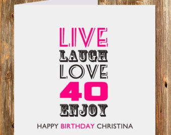 Personalized 40th Birthday Gift 40th birthday 40th by BlingPrints