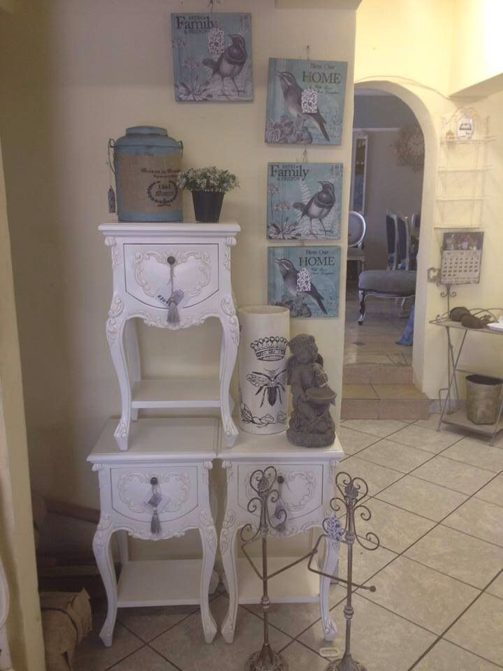 Cute nightstands in antique white finish