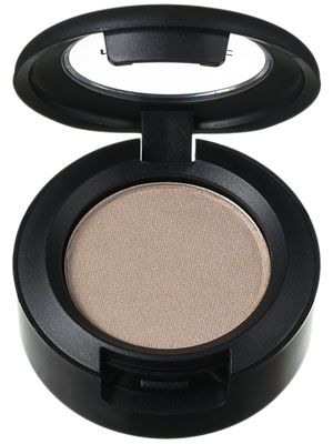 MAC Eye Shadow in Shroom is slightly iridescent and highly pigmented to create a sheeny highlight on the upper eye just below the brow.