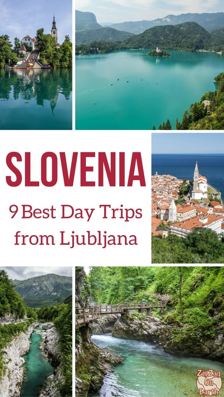 Slovenia Travel Guide - Discover the 9 best days trip from Ljubljana to discover for example lake Bled, Lake Bohinj, the coastal town of Piran, the emerald Soca River... So much to see | #Slovenia | #IfeelSlovenia | Things to do in Slovenia Ljubljana | Slovenia itinerary