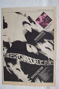 The Psychedelic Furs Tickets | 1980 Psychedelic Furs UK Tour Dates Press Advertisment Poster Size ...