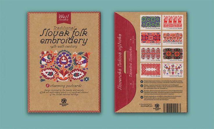 Postcard set - Folk Embroidery Patterns of West Slovakia