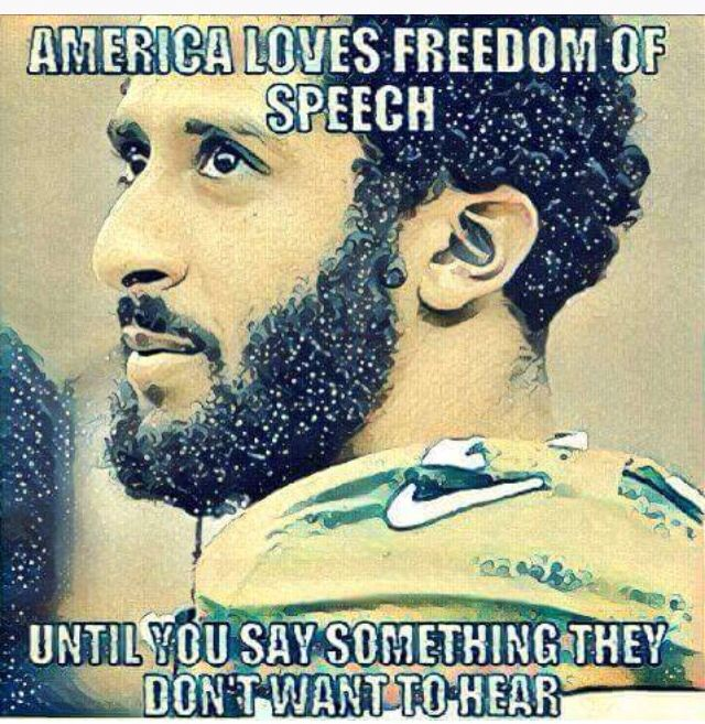 America loves freedom of speech until you say something they don't want to hear.