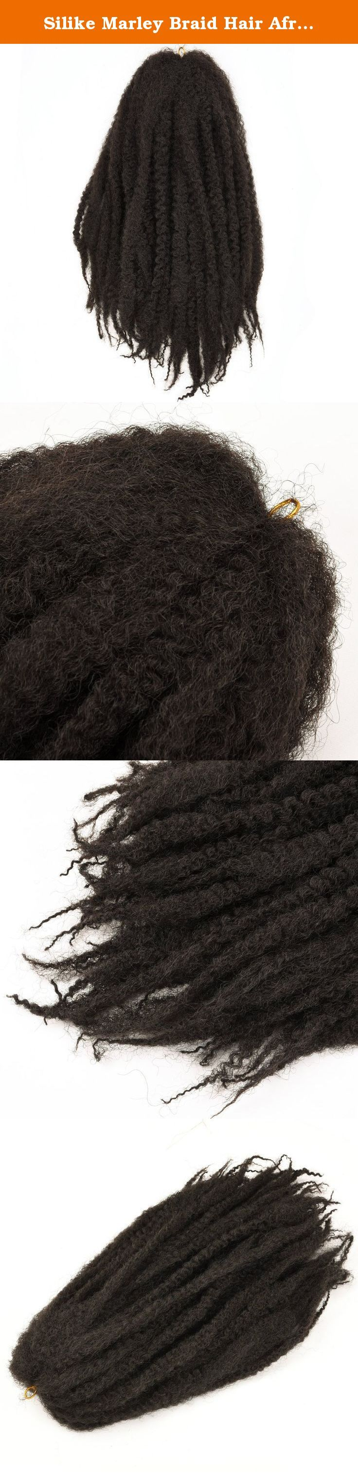 Silike Marley Braid Hair Afro Kinky Twist Crochet Braids (1 Pack) (#2). Item Type: Marley Braid Length: 18inch folded Weight: 100g±5g Packaging: 1 Pack( 30 strands opend/ 60 strands folded/pack).