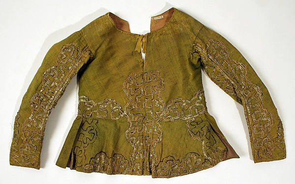 17th century, Europe - Silk jacket (part of dress)