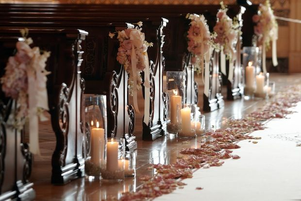 Beautiful ceremony aisle inspiration!  Photograph by: Paul Barnett Photographer  |  Consulting by: Victoria Weddings & Events  |  Aisle Runner by: The Original Runner Company  |  Venue: The Grand Del Mar