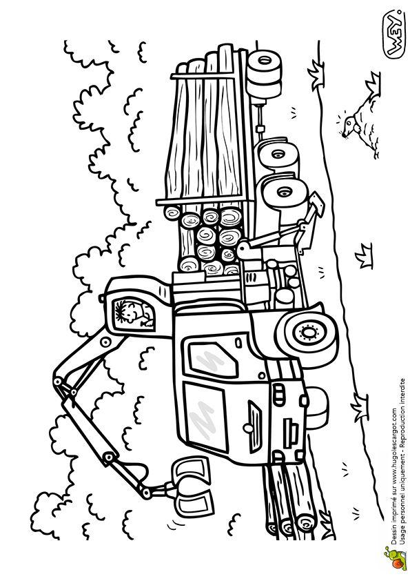 Les 86 meilleures images du tableau coloriages de camions sur pinterest camions chantier et - Camion americain dessin ...