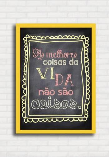 Poster Fofo tipo Lousa - Melhores Coisas - Sabrina Matias TO8324