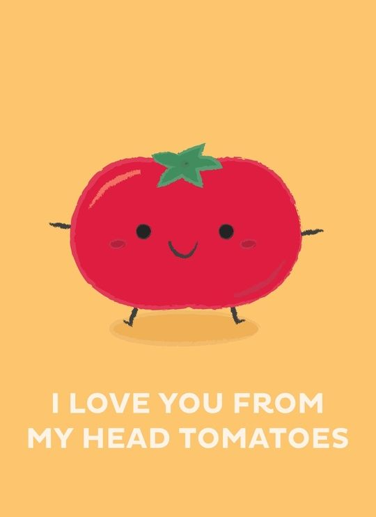 I Love You From My Head Tomatoes, an art print by Krizia Lim