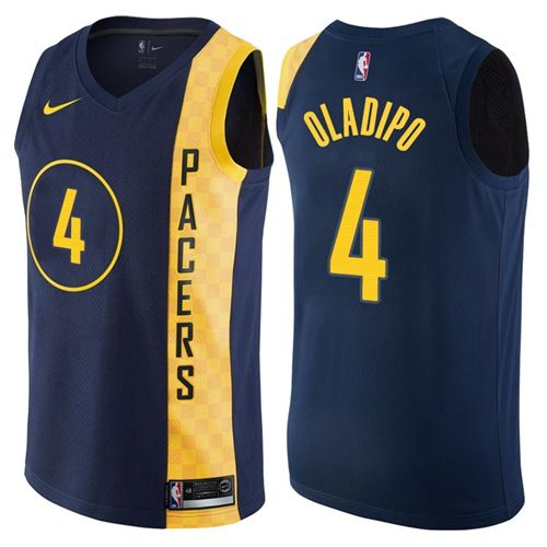 e7f770d0395 Nike Pacers  4 Victor Oladipo Navy Blue NBA Swingman City Edition Jersey