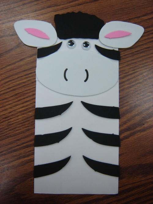 cute zebra puppet