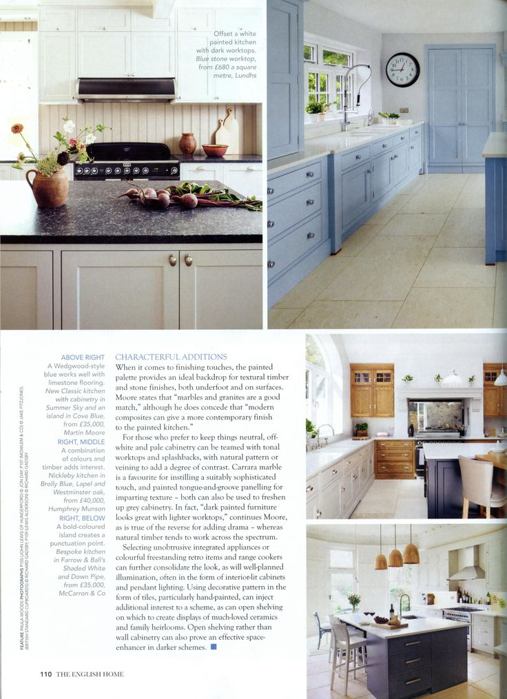 This classic bespoke kitchen is from Martin Moore. www.martinmoore.com The English Home March 2018