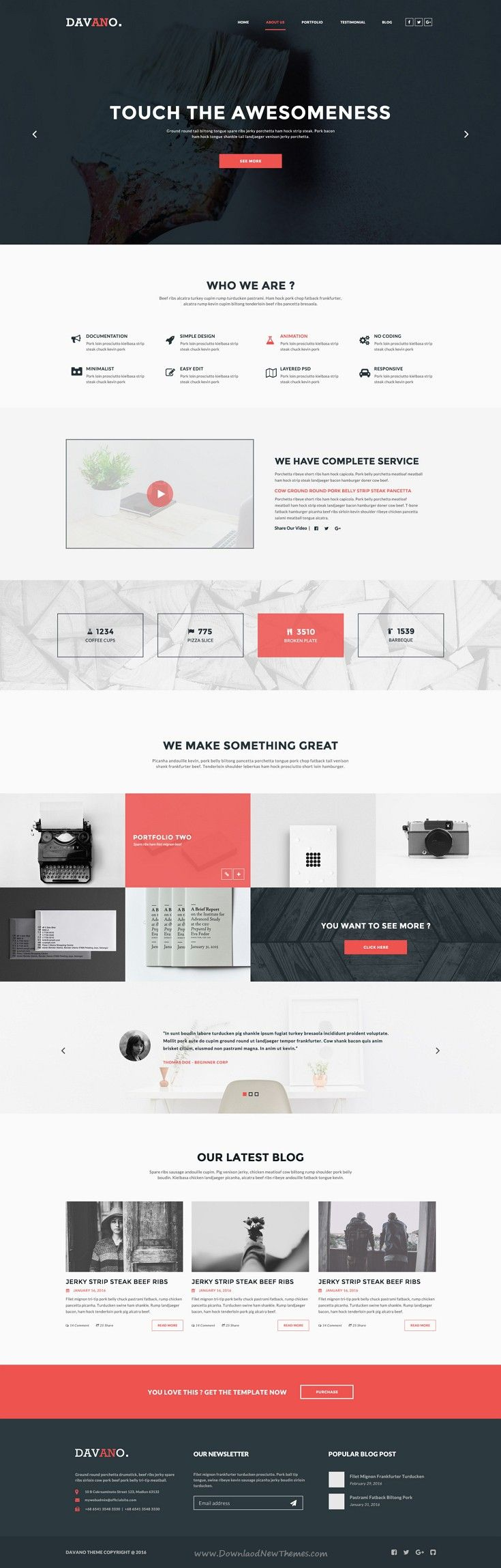 Dafano is Multipurpose premium #PSD #Template for Corporate #website. Download Now!